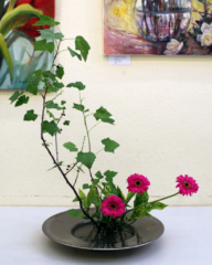 Ikebana-International Vienna beim Sommerfest der ÖJG in Baden 2015