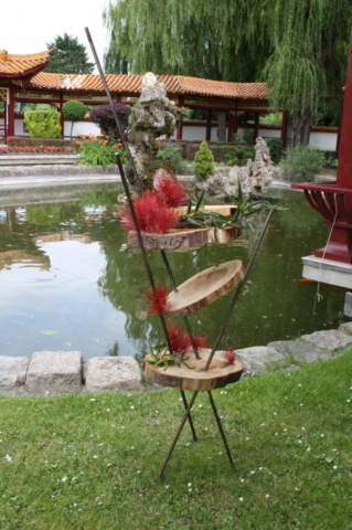 Ikebana-International Vienna Ausstellung im China-Restaurants Sichuan