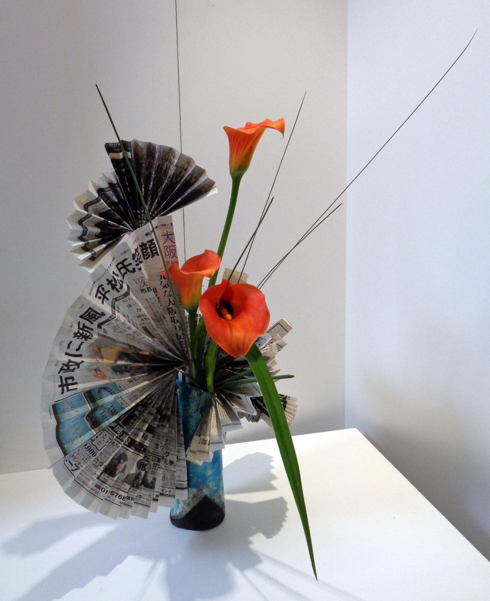 Ikebana-International Vienna Ausstellung Haku und Ikebana